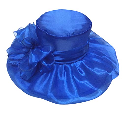 Price comparison product image Benficial Women's Organza Church Kentucky Derby Fascinator Bridal Tea Party Wedding Hat Blue