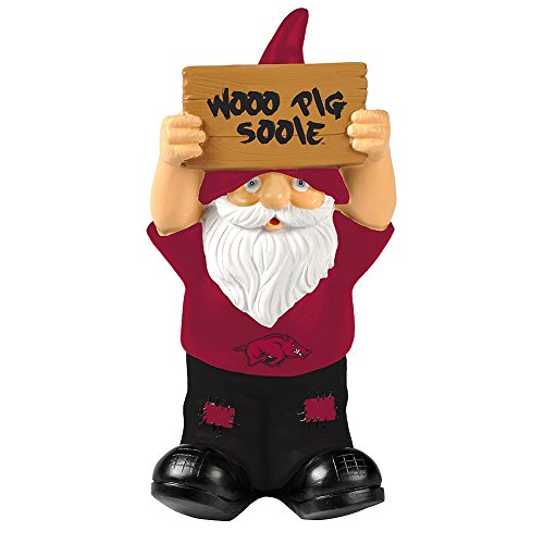 Elite Fan Shop Arkansas Razorbacks Garden Gnome - Cardinal