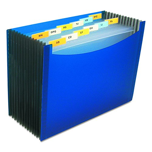 C-Line 13-Pocket Stand-Up Expanding File, 9″ Expansion, Letter Size, Blue (48235)