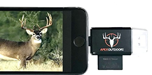 Apex Outdoors Trail Camera Viewer 3 in 1 for iPhone & Android , View Photos and Videos From Sd Memory Card & Micro Sd Memory Card Reader for Hunting + Free Extension, Perfect Gift