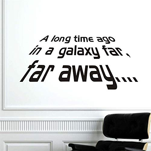 suuyar A Long Time Ago in A Galaxy Far Away Star War Character Words Wall Sticker Home Decor Living Room Bedroom Decor Wallpaper ()