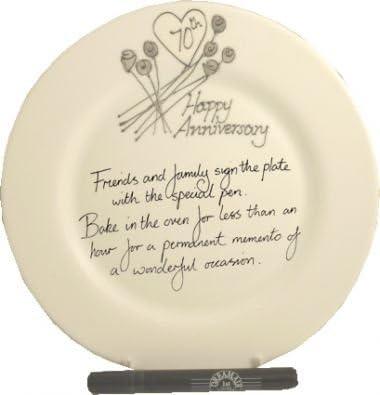 Anniversario Matrimonio Platino.Dreamairshop Piatto Per 70 Anniversario Di Matrimonio Platino