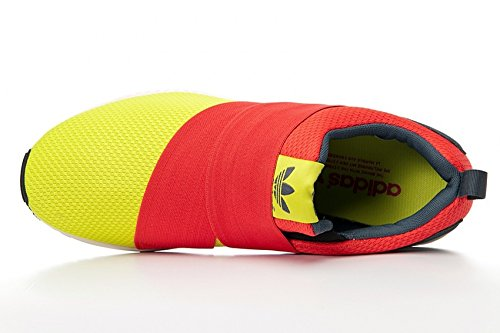 detailed look 3c53c 19d8e Adidas ZX Flux Slip On, semi solar yellow-hi-res red-bold onix, 7,5   Amazon.de  Schuhe   Handtaschen