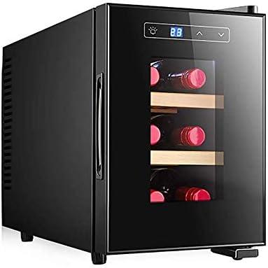 YFGQBCP Refrigerador de Vino, refrigerador Incorporado o Independiente, como Champagne y Vino, función de Memoria de Temperatura de una Sola Zona con luz LED y Mango