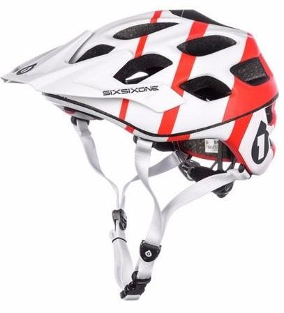 661 Recon Helmet (White/Red, Large/X-Large)
