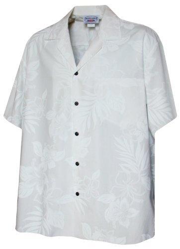 Pacific Legend Boys Elegant Tropical Wedding White Shirt M