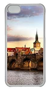 Bridge Landscape Polycarbonate Hard Case Cover for iPhone 5C - Transparent