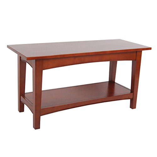 Perfect Alaterre Shaker Cottage Bench, Cherry