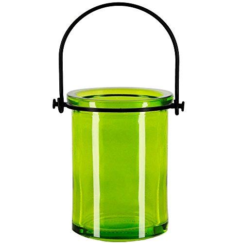 Couronne Company Couronne Co Triton Glass Planter/Lantern, M378-7536G01, 6 Ounce, Lime