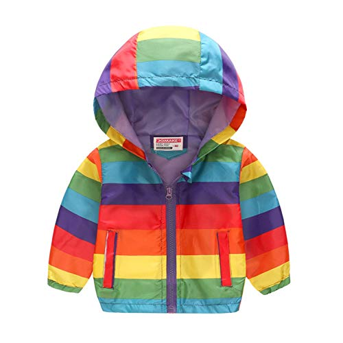 Jacket Newmarket (Cartoon Printed Hooded Jackets Girls Coat Boys Outerwear Baby Jacket Kids Waterproof Windbreaker Children's)