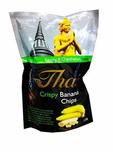 2 Packs of Crispy Banana Chips, Delicious Fruit Snack From My Choice Thai Brand, 4 or 5 Strar Otop Rating Approved. (120 G/ (Banana Flasher Costume)