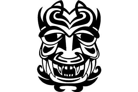 Cojo mascara mascaras antiguas etiqueta - 50cm Altura - 50cm Ancho - Negro Vinilo