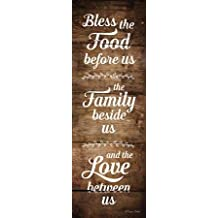 Bless the Food Before Us - Fine Art Print on Fine Art Paper - PRINT ONLY -NO FRAME - 7 x 21 Inch