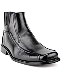 New Men's 38912 Leather Lined Ankle High Zipped Chelsea Dress Boots