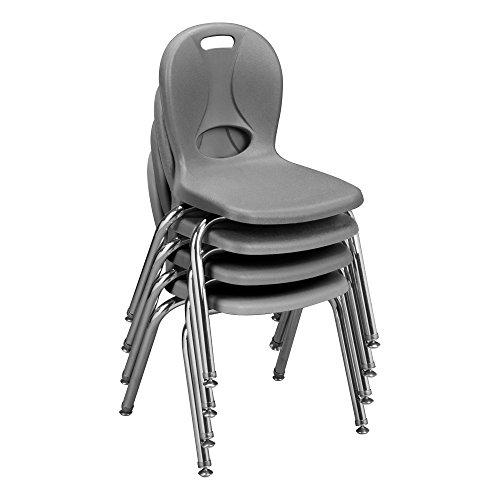 learniture lnt-114-csw-nv estructura Series escuela silla, gris