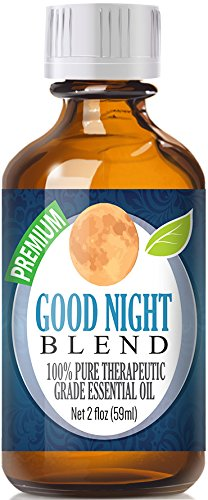 Good Night Essential Oil Blend 100% Pure, Best Therapeutic Grade - 60ml - Comparable to Doterra's Serenity & Young Living's Peace & Calming Blend - Chamomile, Clary Sage, Copaiba, French Lavender, Peru Balsam, Sandalwood, Sweet Marjoram, Ylang Ylang - 60ml / 2 (Oz) Ounces