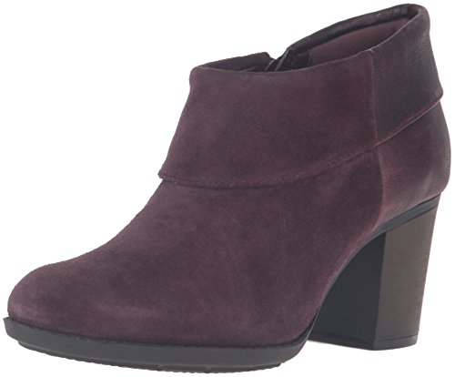 CLARKS Women's Enfield Canal Boot, Aubergine Suede, 9.5 M US by CLARKS