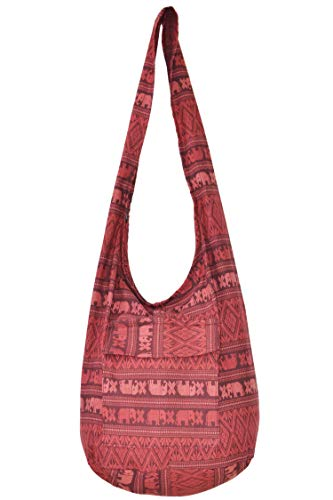 - Bags for Women Sale Boho Purses Cotton Bag For Unisex By Your Cozy (Scarlet)