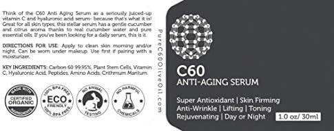 Carbon 60 Serum antienvejecimiento 30ml con ácido hialurónico ...