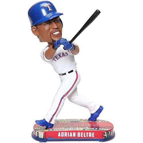 FOCO MLB Texas Rangers Unisex Headline BOBBLEHEADLINE Bobble, Team Color, One Size