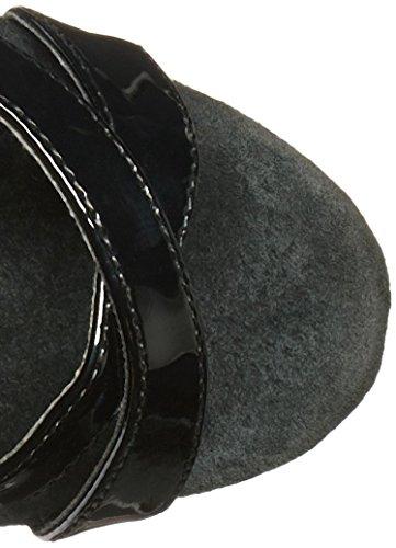 PleaserFLAMINGO-831 - Zapatos con correa de tobillo Mujer Blk Pat/Blk
