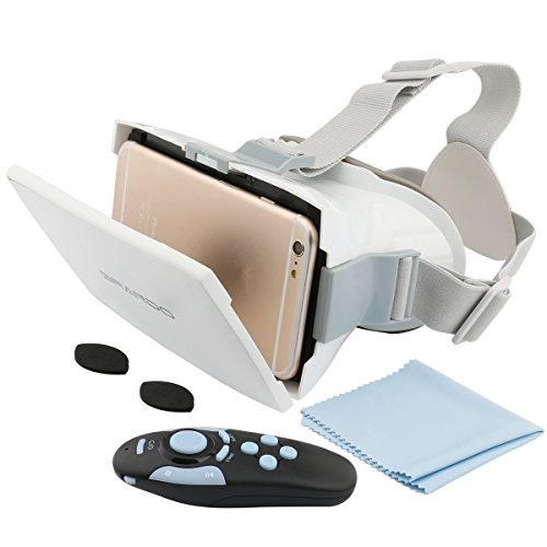 355655cbda8e GRANDO 3D VR Virtual Reality Headset with Bluetooth Remote Controller VUE  Series VR Glasses for 4.7~6 inch Smartphones for 3D Movies and Games with  ...