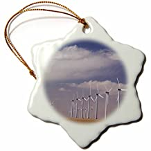 Danita Delimont - Windmills - Electric Windmill, power, Two Buttes, Colorado - NA02 RNU0090 - Rolf Nussbaumer - Ornaments - 3 inch Snowflake Porcelain Ornament (orn_84237_1)