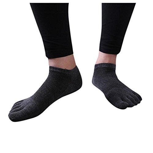 Menstoe Sokker, Inkach Stilige Menn Bomull Fem Finger Sokker Pustende  Løpesokker Lette, Uteblivelse Sokker