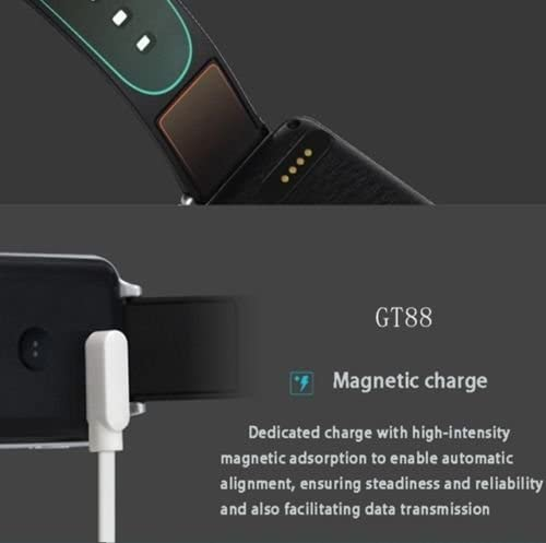 Smart Touch Charging Cable For Smart Watch Models: GT88, GT68, KW08, KW18, KW88, KW98, KW99, KW28, FS08, GV68 & KW06. A 4 Pin Magnetic Suction USB ...