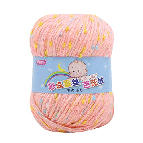 Gotian Hand-Woven Silk Wool Kiting Yarn, 50g Hand Knitting Knicker Yarn Crochet Soft Scarf Sweater Hat Yarn Knitwear Wool - Air Tote Jumbo