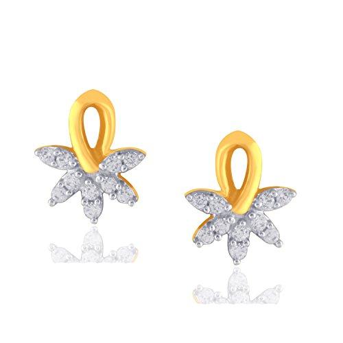 Giantti 14carats Diamant pour femme Boucles d'oreille à tige (0,14CT, VS/Si-clarity, Gh-colour)