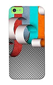 Christmas Gift - Tpu Case Cover For Iphone 5c Strong Protect Case - Colors On Paper Design