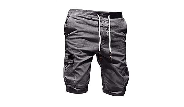 AG&T Pantalones Cortos para Hombre Bermudas Cargo Bolsillos ...