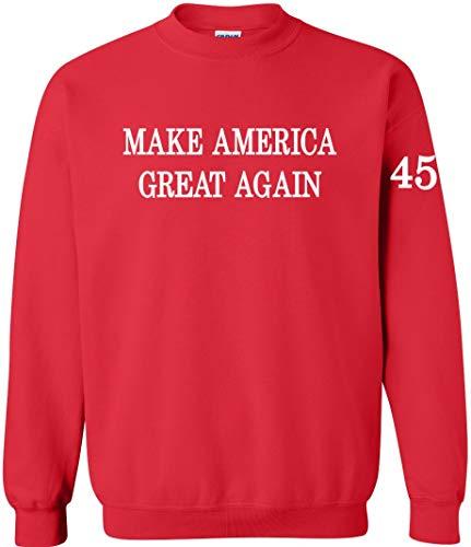 Make America Great Again Crewneck Sweatshirt Red (Large) ()