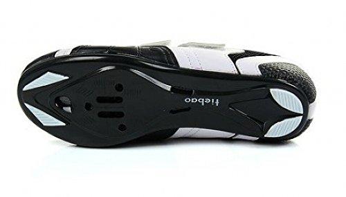 WOW. Nouveau Hommes de chaussures de vélo de route avec SPD nylon-fibreglass Noir et Blanc Couleur