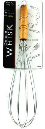 "12"""" Wire Whisk with Wood Handle Case Pack 24 Home Kitchen F"