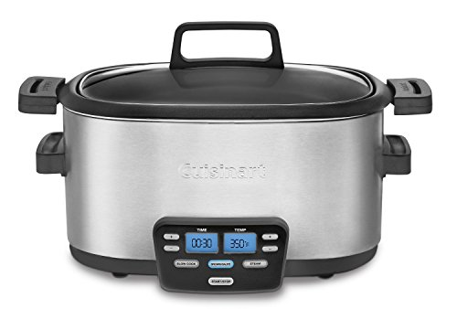 Cuisinart MSC-600FR Cuisinart MSC-600FR 3-In-1 Cook Central 6-Quart Multi-Cooker: Slow Cooker, Brown/Saute, Steamer (Certified Refurbished), Silver (Cuisinart 6 Quart 3 In 1 compare prices)