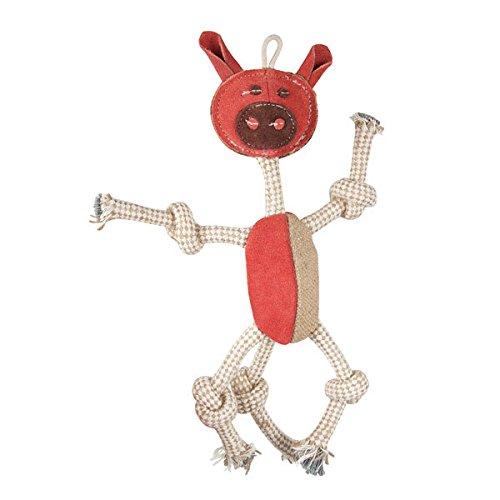 Aussie Naturals Wiggly Family of Animals - Dog Toy - Pig (Aussie Dog Toy)