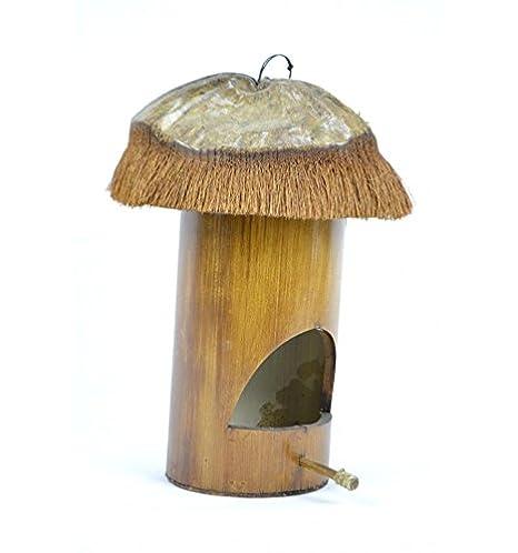 Artisanal Nichoir de Jardin en Bambou et Noix de Coco. Maison d ...