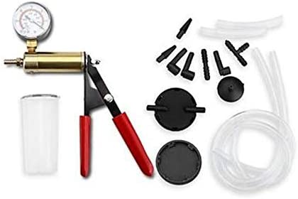 ouying1418 Hand Held Vacuum Pump Tester Set and Brake Bleeder Kit Car Motorbike Pump