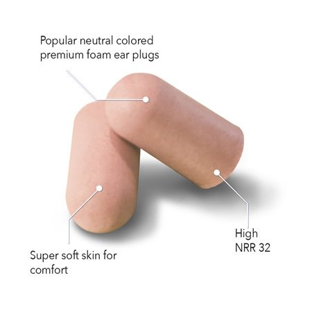 HEAROS Ultimate Softness Tan Ear Plugs, For The Softest Foam Earplugs NRR 32 Hearing Protection 100 Pair by Hearos (Image #1)