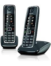 Gigaset C560 Duo – twee draadloze telefoons voor oproepen, overdracht van oproepen, beltonen en telefoonboek, personaliseerbaar, handsfree en kleurendisplay