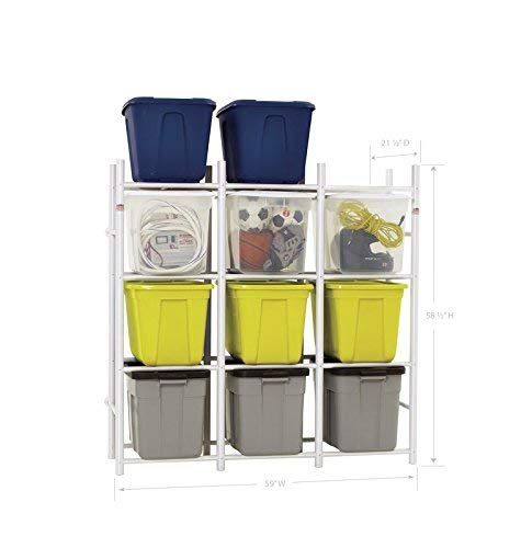 Bin Warehouse Storage Systems DFAE2MBW-12TC 12 Compact Shelving System for Storing Plastic Bins, Totes and tubs. by Bin Warehouse Storage Systems