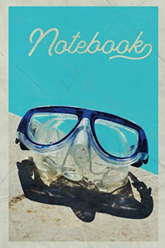 Notebook: Scuba Goggles Buceo Charming Composition Book Journal Diary for Men, Women, Teen & Kids Vintage Retro Design for creating diving equipment list