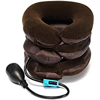 Techsun Acupressure Health Care System Portable Neck Pillow Three Layer Tractor Massager Exerciser for Cervical Spine Neck Back Shoulder Pain