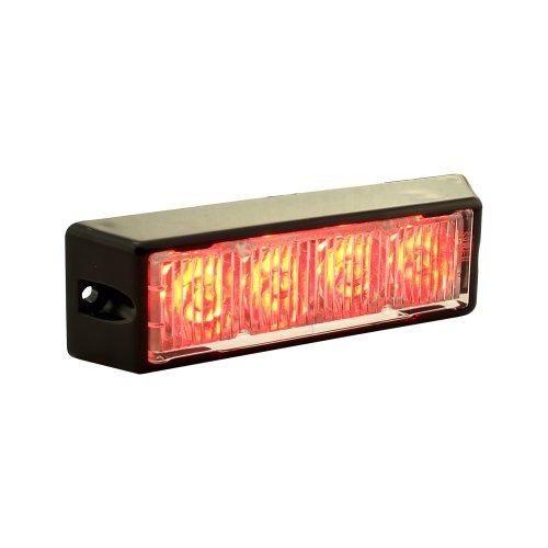LAMPHUS SolarBlast SBLH04 LED Strobe Grille Flashing Lights [22 Modes] [4 Watt] [TIR] [Weatherproof] Warning Lights for Police & Firefighter Emergency Vehicles - Red/Red