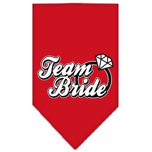 UPC 099994333140, Mirage Pet Products Team Bride Screen Print Bandana, Small, Red