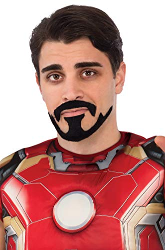 Rubie's Men's Avengers 2 Age Of Ultron Iron Man Tony Stark Mustache, Black, One Size -