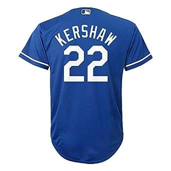 Amazon.com: Clayton Kershaw Los Angeles Dodgers #22 Blue