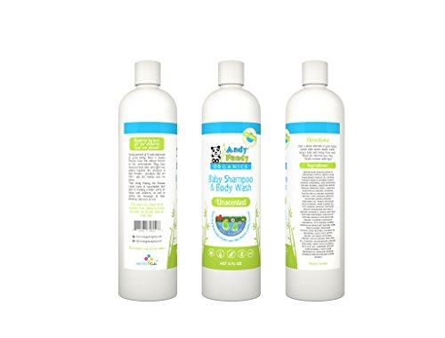 Andy Pandy Organics 100% Natural & Organic Baby Body Wash & Shampoo (8 fl oz, Unscented)